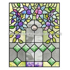 Stained glass door decoration patterns