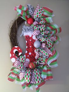 Christmas Wreath by SassyGirlsNC on Etsy