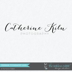 Premade Photography Logo Design  2 font logo by TheAutumnRabbit, $30.00