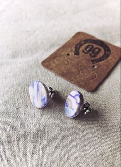 Free Shipping! One of a kind polymer clay jewellery at 99 Farm Gift Shop. Handmade Jewellery, Unique Jewelry, Handmade Gifts, Handmade Polymer Clay, Polymer Clay Jewelry, Purple Marble, Gemstone Rings, Women Jewelry, Stud Earrings