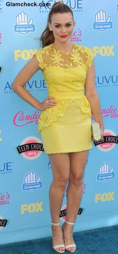 Peplum Yellow Lace dress - Holland Roden