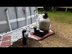 Intex Pool Upgraded Hard Plumb, Pool pump, Sand Filter, and Salt Water Generator - YouTube
