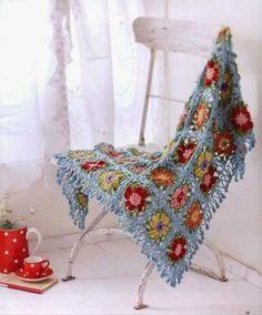 FLOWER SHAWL (Crochet and arts) …