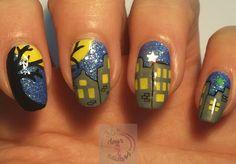 365 days of nail art - Zie de maan schijnt door de bomen...
