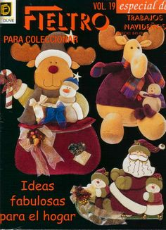 Archivo de álbumes Christmas Books, Christmas Holidays, Christmas Crafts, Christmas Decorations, Christmas Ornaments, Christmas Ideas, Moose Crafts, Sewing Magazines, Cross Stitch Books