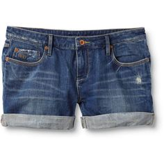 Gypsy Tour True Blue Shorts ❤ liked on Polyvore