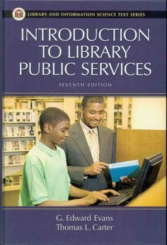 Introduction to library public services (2009) / G. Edward Evans and Thomas L. Carter.  Thomas Carter is the former director of the St. Albert Hall Library at SMC.