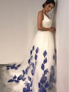 Tulle Evening Dresses,Appliques Prom Dresses,O-Neck Prom Gown from Ifgirl Grad Dresses Long, Formal Dresses For Teens, Evening Dresses, Bridesmaid Dresses, Prom Dresses, Formal Gowns, Dress Long, Wedding Dresses, Cruise Dress