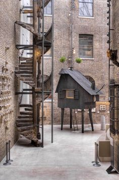 """""""Beetle's House"""" designed by architect Terunobu Fujimori for '1:1 - Architects Build Small Spaces' at the V Museum in London"""