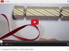 Christmas Cracker using Envelope Punch Board - video tutorial