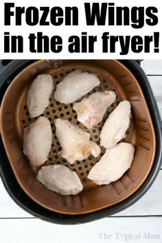 This is how you make tender and delicious pressure cooker frozen chicken wings! Air Fryer Recipes Appetizers, Air Fryer Oven Recipes, Air Frier Recipes, Air Fryer Dinner Recipes, Air Fry Chicken Wings, Frozen Chicken Wings, Crispy Baked Chicken Wings, Freezer Chicken, Chicken Wing Recipes