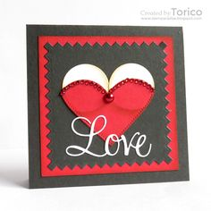 STAMPARADISE: Naughty or Nice Challenge #12 - LOVE Penny Black Cards, Love Express, Valentine Day Cards, Creative Cards, I Card, Favorite Things, Challenges, Paper Crafts, Nice