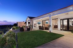 Outside spaces by Patterson Custom Homes Newport Beach CA