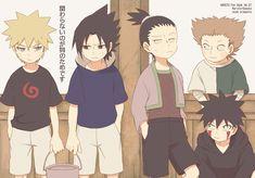 Naruto, Sakuke, Shikamaru, Choji and Kiba