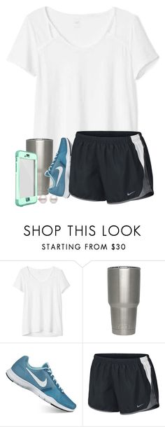 """""""That moment when you're starving, but don't have the energy to get up and cook..🙄"""" by triciafaye ❤ liked on Polyvore featuring Gap, NIKE, bedroom, kitchen and bathroom"""