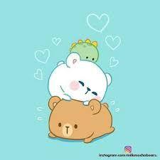 Image result for milk mocha bear instagram Cute Kawaii Animals, Kawaii Cute, Kawaii Chibi, Cute Chibi, Cute Cartoon Wallpapers, Cartoon Pics, Bear Instagram, Cute Bear Drawings, Cute Couple Cartoon