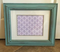Picture frame, painted in AS Provence, dark glazed & distressed   ~The Decor Vault~ www.facebook.com/thedecorvault