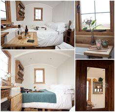 The stylish and bijou Skye Shepherd Huts as seen by Shepherds Hut Holidays, Double Beds, Bed And Breakfast, Cosy, Commercial, Stylish, Furniture, Home Decor, Interiors