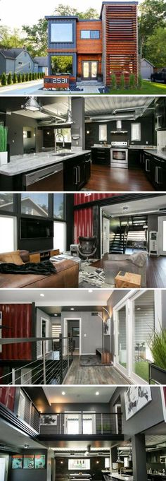 Container House - A unique modern home made out of seven shipping containers. - Who Else Wants Simple Step-By-Step Plans To Design And Build A Container Home From Scratch? #ShippingContainerHomePlans