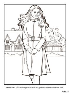 kate the duchess of cambridge royal fashions coloring book - Fashion Coloring Pages 2