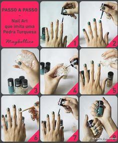 As nail arts estão cada vez mais elaboradas e com alguns truques é possível reproduzir qualquer desenho nas unhas, então que tal criar uma pedra preciosa? O passo a passo dessa semana ensina a imitar ...