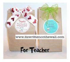 It's Written on the Wall: {Freebie}Teacher Appreciation Notes & Gift Ideas