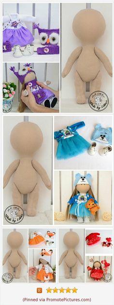 Kit Blank dolls body- 20 with clothes by DollsbyLilia Etsy shop www. Doll Making Tutorials, Sewing Dolls, Felt Toys, Soft Dolls, Diy Doll, Cute Dolls, Stuffed Toys Patterns, Fabric Dolls, Crochet Dolls
