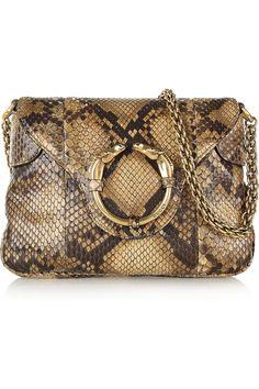 Gucci|Python shoulder bag|NET-A-PORTER.COM