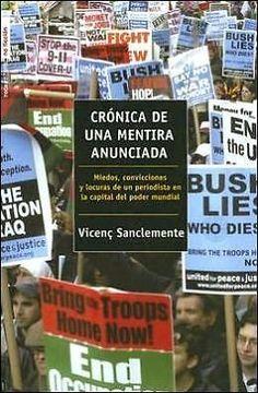 CRONICA DE UNA MENTIRA ANUNCIADA   VICENTEC SANCLEMENTE   SIGMARLIBROS
