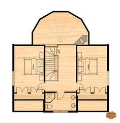 Bunkhouse Plans 808255464355353299 - The Two Storey – True North Log Homes Source by Dream House Plans, Small House Plans, House Floor Plans, Cottage Plan, Cottage Homes, Rustic Cabin Decor, Rustic Cabins, Lodge Decor, Log Cabins