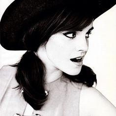 Emma Watson Black and White Photo