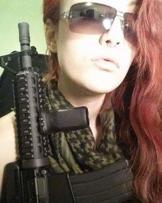 Throwback: Playing with Fire  WE Shorty M4 with Daniel Defense Rail  #ink #inkedgirls #inktattoo #tattooedgirls #tattooes #redhead #long #airsoft #airsoftgun #airsofter #airsoftgirls #girlswithguns #girlswholikeguns #cadpat #danieldefenserail #throwback #WEM4 by enormityx