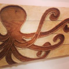 Wood and rope octopus from www.mstreetartwork.com