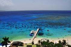 Our favorite place to snorkel - Doctor's Cave Beach in Montego Bay, Jamaica.