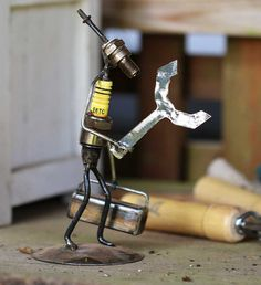 Recycled Spark Plug Statues - Recycled Art Handmade in Africa - Swahili Modern - 1