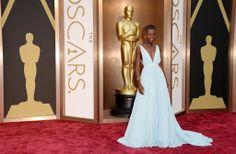 Lupita Nyong'o in Prada at the 2014 Oscars
