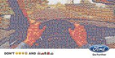 FordDon't Emoji and Drive -Ford Italia partecipaalla Games Week, il più importante appuntamento italiano con il mondo dei videogiochi, il messaggio