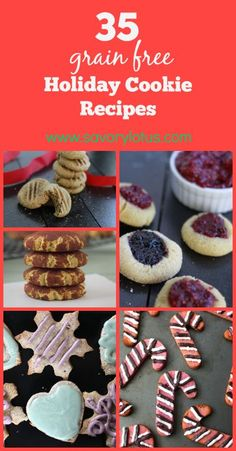 35 Grain Free Holiday Cookie Recipes - #grainfree #glutenfree #cookies