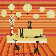 Quint Cats By Kerry Beary Cross Stitch Kit