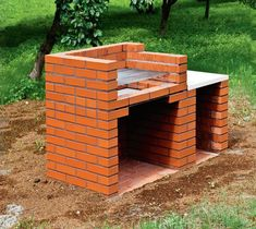 New Backyard Brick Patio Pizza Ovens Ideas Grill Gazebo, Patio Grill, Bbq Grill, Backyard Patio, Brick Grill, Brick Oven Outdoor, Barbecue Design, Grill Design, Garden Fountains For Sale
