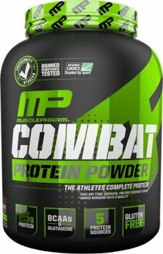 MusclePharm Combat Powder Banana Cream 4 Lbs. MPHARM009 Banana Cream - Loaded with a Variety of Proteins to Feed Muscles for up to 8 Hours*