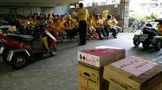 104.8.11pm1330慰問環保局萬華大理清潔隊工作夥伴蘇迪勒颱風大家辛苦了