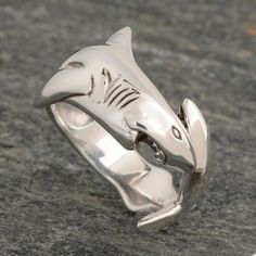 Great White Shark Ring, Troy, you need this in your life.