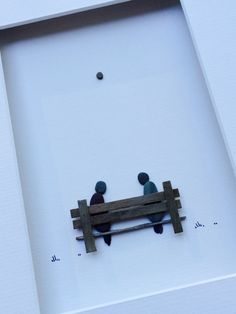 8 by 10 two on a bench by sharon nowlan by PebbleArt on Etsy