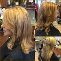 Healthy, beautiful, shiny hair starts in the shower so make sure to use the right shampoo and conditioner for your hair type, but beautiful color n cut enhance your image and Personality. #melbashair #hair #beautifulhair