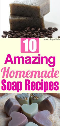 10 Amazing Homemade Soap Recipes - Off-Grid Coffee Soap, Everyday Dishes, Homemade Soap Recipes, Off The Grid, Natural Solutions, Home Made Soap, Handmade Soaps, Natural Living, Just In Case
