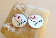 Stamped Disc Necklace  Custom Hand Stamped by BlueCornerCreasigns