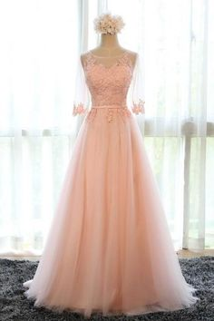 Real Picture,Prom Dresses,Long Prom Dress,Bridesmaid Dresses,Tulle,Scalloped,Evening Dresses,Women Dresses,Wedding Dress,Party Dress 2016,Vestidos De Fiesta