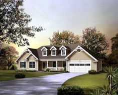 House Plan 95850 | Country   Ranch    Plan with 1568 Sq. Ft., 3 Bedrooms, 2 Bathrooms, 2 Car Garage