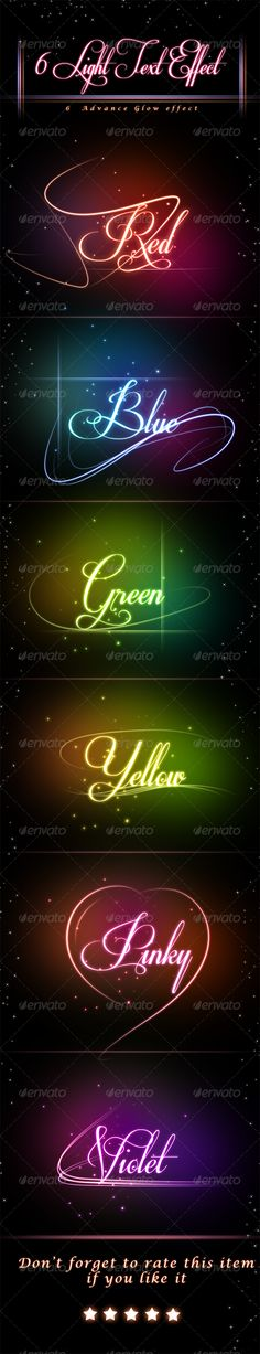 Glowing Light Text Effect - Text Effects Actions